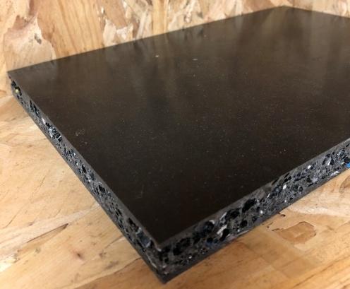 PE en PS recylce plaat zwart PE toplaag