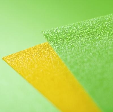 Terranyl yellow sheet bioplastic
